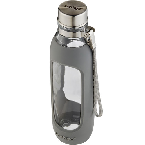 Contigo Purity Glass Water Bottle (20 fl oz, Smoke)
