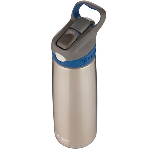 Contigo AUTOSPOUT Sheffield Stainless Water Bottle (20 fl oz, Monaco)