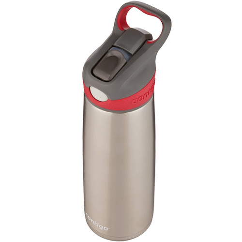Contigo AUTOSPOUT Sheffield Stainless Water Bottle (20 fl oz, Sangria)