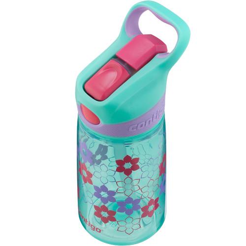 Contigo AUTOSPOUT Striker Kid's Bottle (14 fl oz, Ultramarine Lilies)