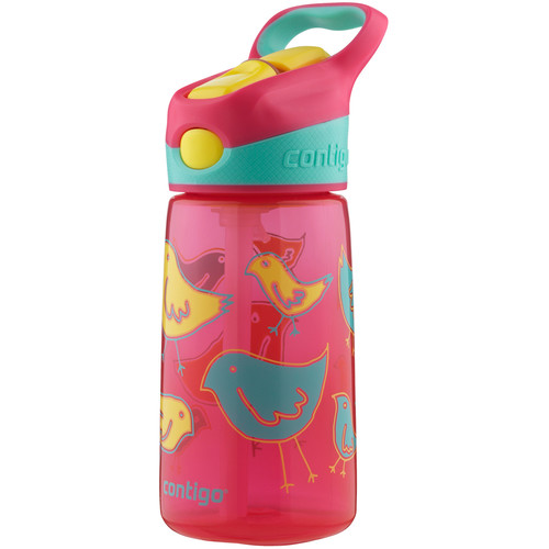 Contigo AUTOSPOUT Striker Kid's Bottle (14 fl oz, Cherry Blossom Birds)