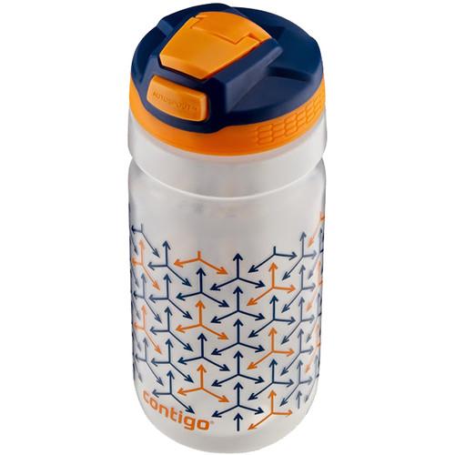 Contigo AUTOSPOUT Squeeze Kids Water Bottle (18 fl oz, Oxford Blue w/ Weathervane Graphic)