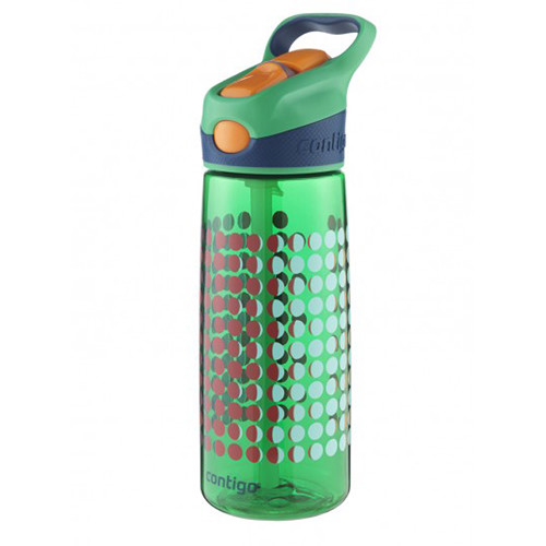 Contigo AUTOSPOUT Striker Kid's Bottle (20 fl oz, India Green Pinball)