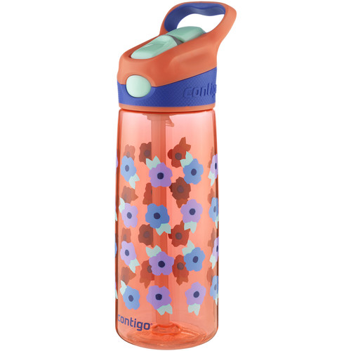 Contigo AUTOSPOUT Striker Kid's Bottle (20 fl oz, Tango Pink Flowers)