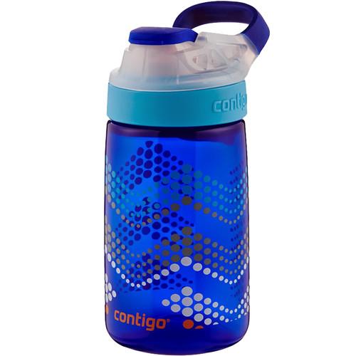 Contigo AUTOSEAL Gizmo Sip Kids Water Bottle (14 fl oz, Sapphire / Bubbles)