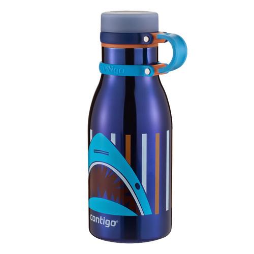 Contigo Maddie Stainless Steel Kids Water Bottle (12 fl oz, Sapphire)