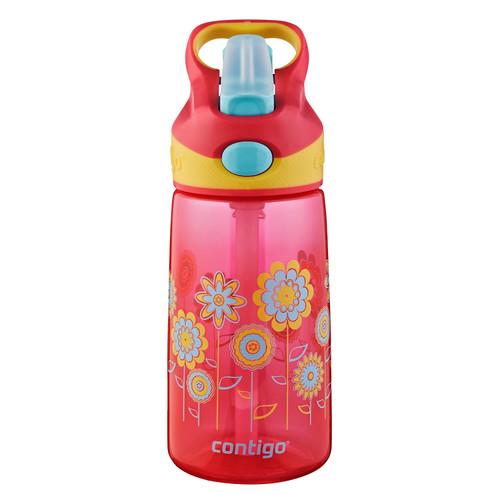 Contigo AUTOSPOUT Striker Kid's Bottle (14 fl oz, Cherry Blossom Lilies)