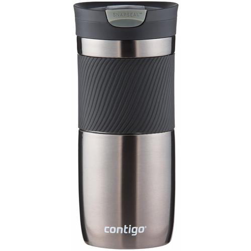 Contigo SnapSeal Byron Stainless Travel Mug (16 fl oz, Gunmetal)