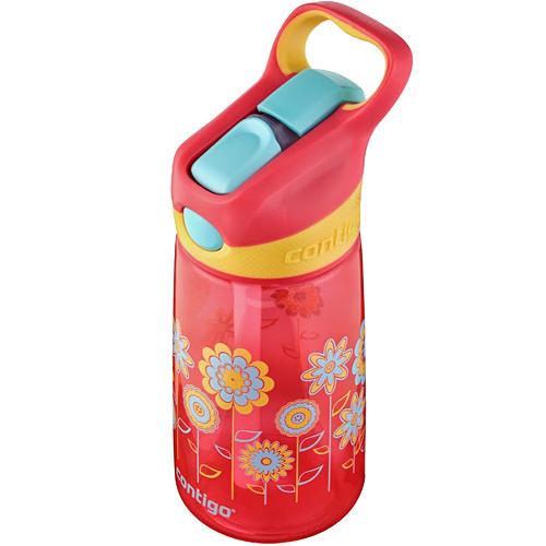 Contigo AUTOSPOUT Striker Kid's Bottle (14 fl oz, Cherry Blossom Flowers)