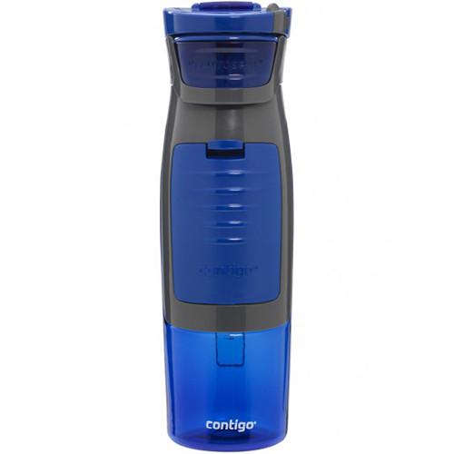 Contigo AUTOSEAL Kangaroo Water Bottle with Pocket (24 fl oz, Blue)