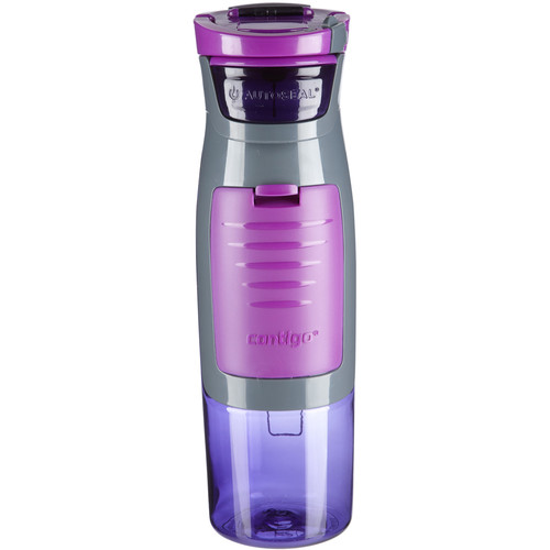 Contigo 24 oz AUTOSEAL Kangaroo Water Bottle with Pocket (Purple)