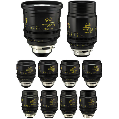 Cooke miniS4/i Cine Lens Set of Ten Lenses, 18 to 135mm (Feet)