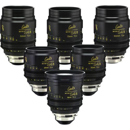 Cooke miniS4/i Cine Lens Set of Six Lenses, 18 to 100mm (Meters)