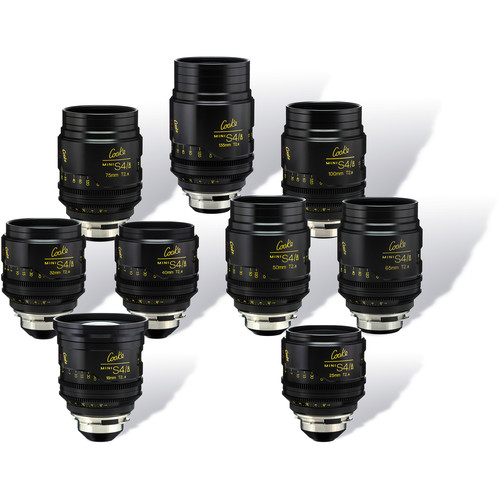Cooke miniS4/i Cine Lens Set of Nine Lenses, 18 to 135mm (Feet)