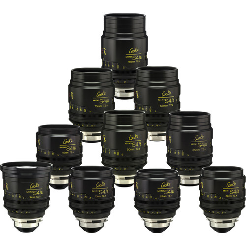 Cooke miniS4/i Cine Lens Set of Ten Lenses, 18 to 135mm (Meters)