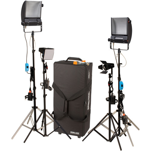 Cool-Lux LK2341 Hollywood Combo Studio Interview Kit with Carrying Case