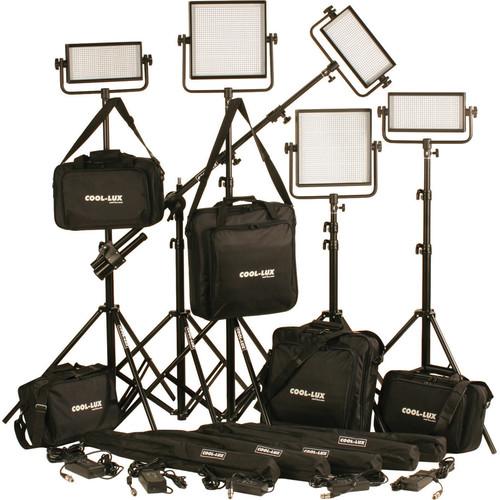 Cool-Lux CL5-3500DSX Daylight PRO Studio LED Spot 3-CL500DSX, 2-CL1000DSX Kit with DMX