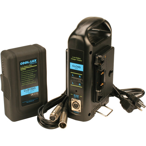 Cool-Lux Anton Bauer Gold Mount 150 Wh Battery with Dual Charger for CL500 / 1000 / 2000 LED Lights
