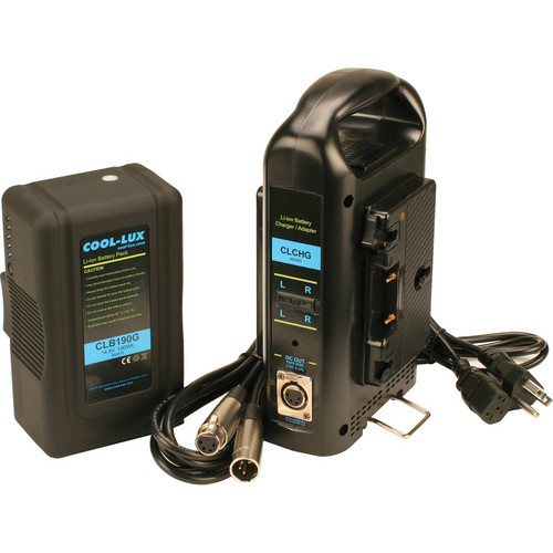 Cool-Lux Anton Bauer Gold Mount 190 Wh Battery with Dual Charger for CL500 / 1000 / 2000 LED Lights