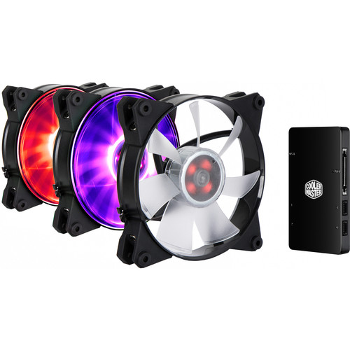Cooler Master MasterFan Pro 120 Air Flow RGB 3-in-1 with RGB LED Controller