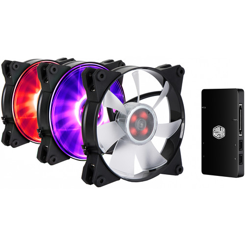 Cooler Master MasterFan Pro 120 Air Pressure RGB 3-in-1 with RGB LED Controller