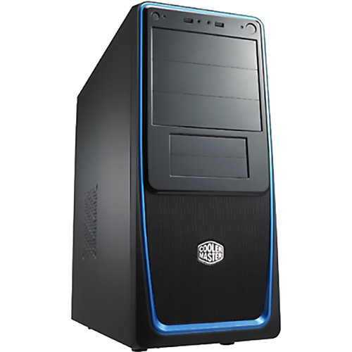 Cooler Master Elite 311 Mid-Tower Case (Black/Blue)