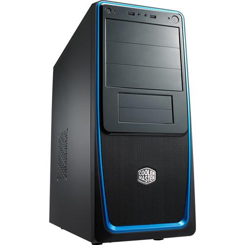 Cooler Master Elite 311 Mid-Tower Computer Case (Black/Blue)