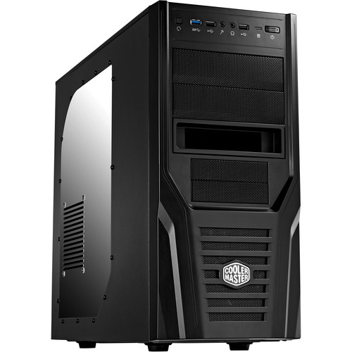 Cooler Master Elite 431 Plus Mid Tower Computer Case (Black)