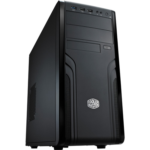 Cooler Master Force 500 Mid-Tower Desktop Case with 500W Power Supply (Black)