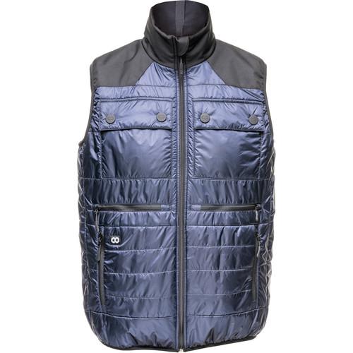 COOPH Heatable Photo Vest (Navy/Anthracite, Small)