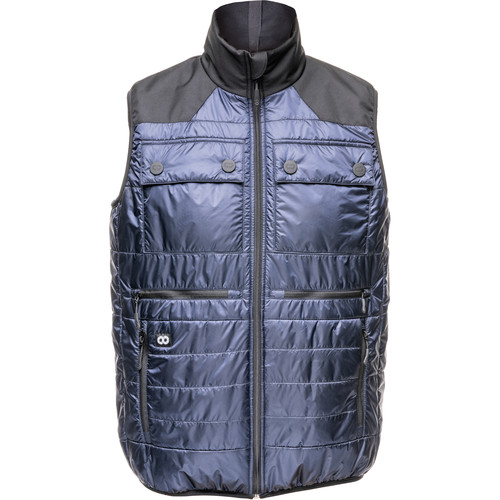 COOPH Heatable Photo Vest (Navy/Anthracite, Large)
