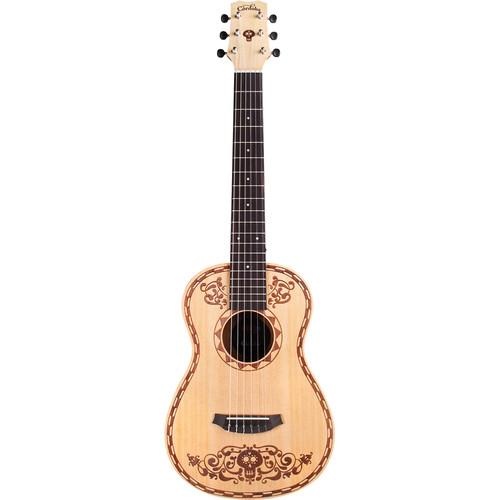 Cordoba Disney-Pixar Coco X Mini SP Nylon-String Classical Guitar (Natural, Laser-Etched Coco Design)