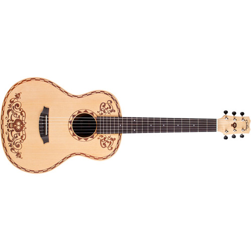 Cordoba Disney-Pixar Coco 7/8-Size Nylon-String Classical Guitar (Natural, Laser-Etched Coco Design)