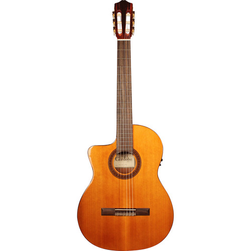 Cordoba C5-CE Iberia Series Nylon-String Acoustic/Electric Guitar (Left-Handed, High Gloss)