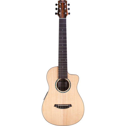 "Cordoba Mini II EB-CE Travel-Size 22-7/8"" Cutaway Nylon Acoustic/Electric Guitar"