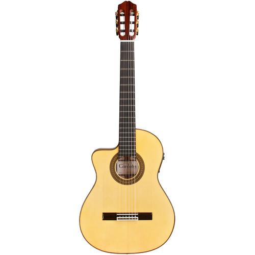 Cordoba FCE España Series Hybrid Classical/Electric Guitar (Left-Handed, Honey Amber)