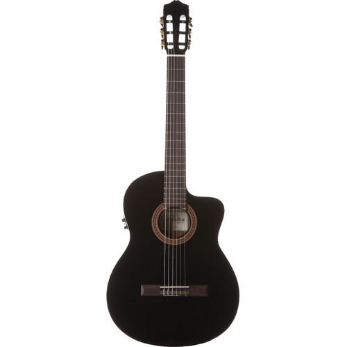 Cordoba C5-CEBK Iberia Series Nylon-String Acoustic/Electric Guitar (High Gloss Black)
