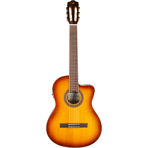 Cordoba C5-CE SB Iberia Series Nylon-String Acoustic/Electric Guitar (High-Gloss, Sunburst)