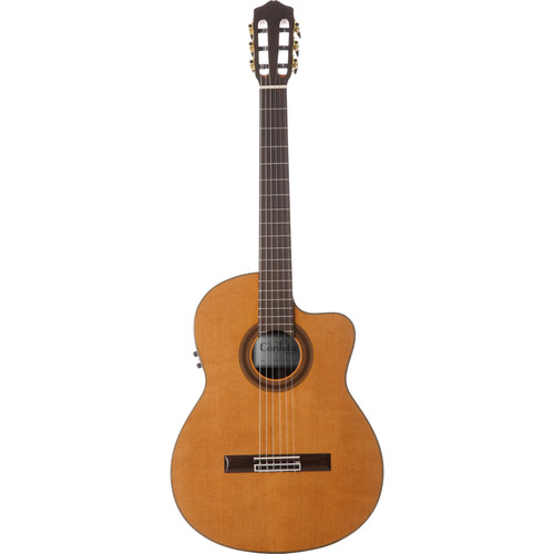 Cordoba C7-CE Iberia Series Nylon-String Acoustic/Electric Guitar (High Gloss)
