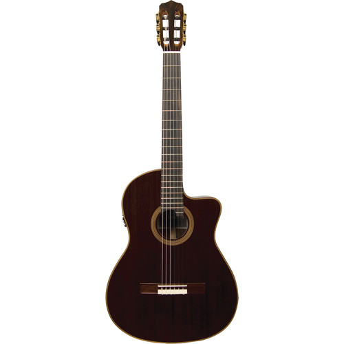 Cordoba 14 Rose Fusion Series Hybrid Nylon-String Acoustic/Electric Guitar (High Gloss)