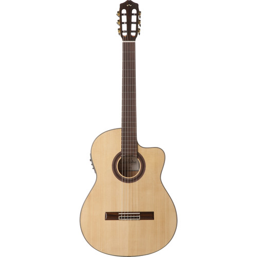 Cordoba GK Studio Iberia Series Hybrid Classical/Electric Guitar (High-Gloss, Honey-Amber Tint)