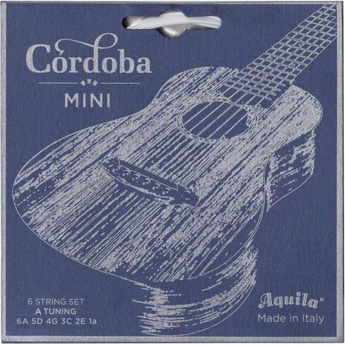 Cordoba Mini String Set for A Tuning (6-String, Supernylgut, Ball Ends, 24 - 39)