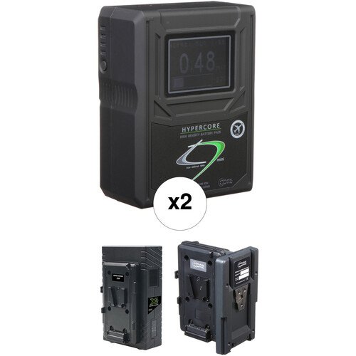 Core SWX 2 x HC9 Mini Battery Kit with Hot Swap Plate & Dual Charger (V-Mount)
