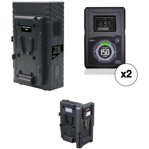 Core SWX 2 x Hypercore 150Wh Battery Kit with Hot Swap Plate & Dual Charger (V-Mount)