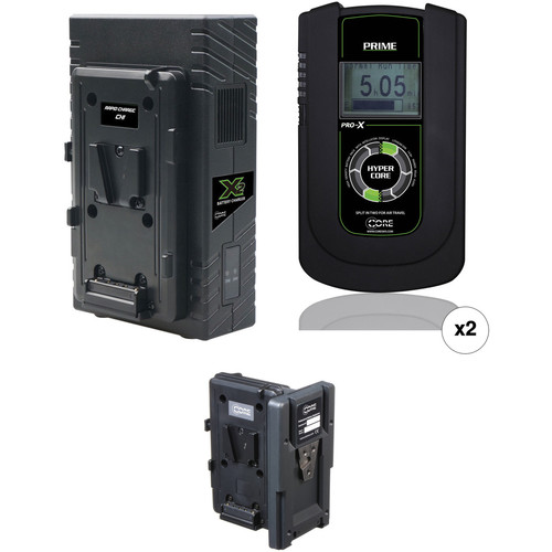 Core SWX 2 x Hypercore PRIME 190Wh Battery Kit with Hot Swap Plate & Dual Charger (V-Mount)