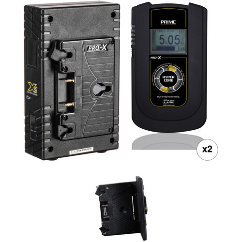 Core SWX 2 x Hypercore PRIME 190Wh Battery Kit with Hot Swap Plate & Dual Charger (Gold Mount)