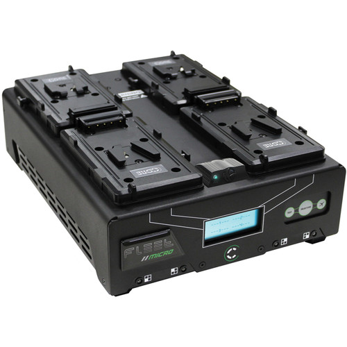 Core SWX VoltBridge Enabled Fleet Micro 3A Digital Quad Charger for V-Mount Batteries