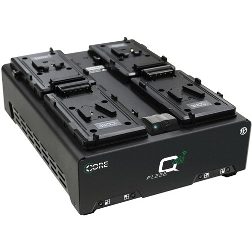 Core SWX Fleet Q4Si Four-Position Charger with Voltbridge Wireless (V-Mount)