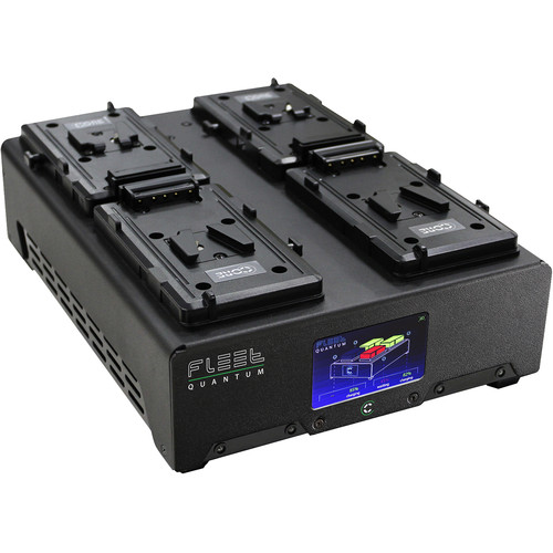 Core SWX FLEET Quantum 4-Position Charger with Touchscreen Color LCD (V-Mount)