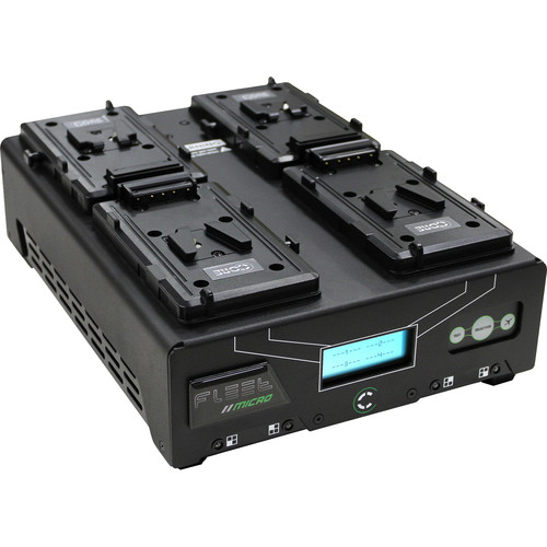 Core SWX Fleet Micro 3A Digital Quad Charger for V-Mount Batteries